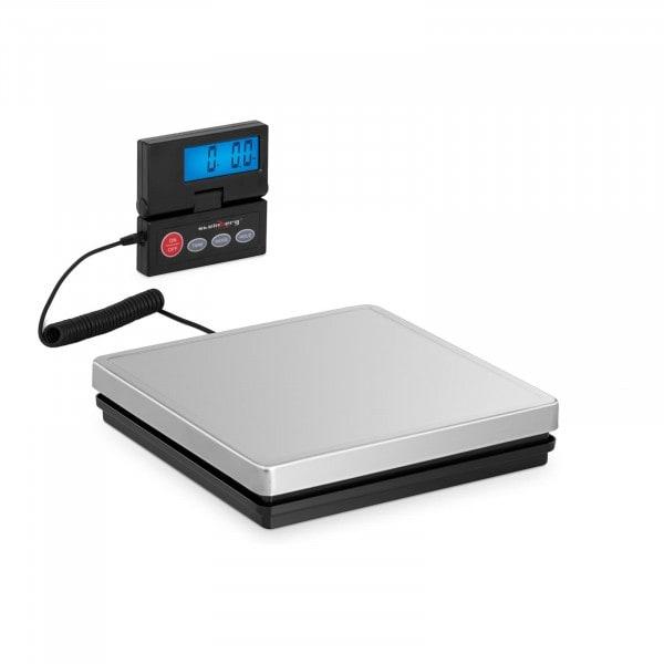 Digitale Paketwaage - 50 kg / 10 g - 25 x 25 cm - externes LCD