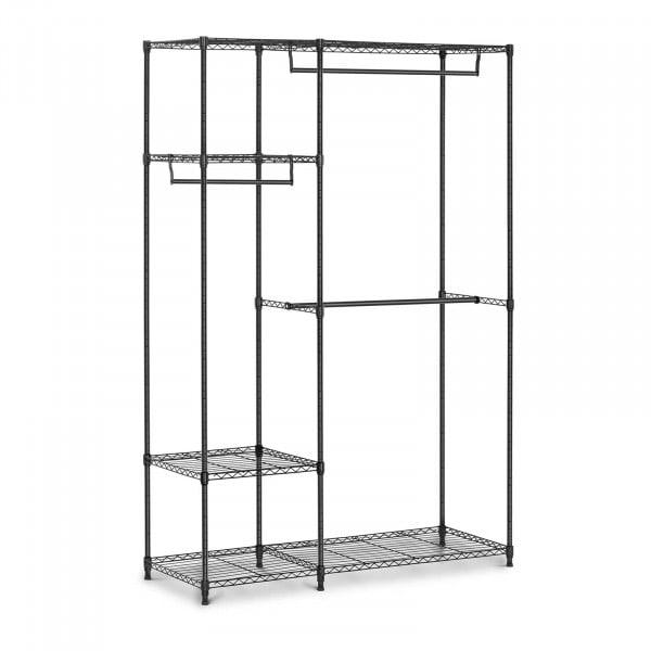 Garderobenständer Metall - 120 x 45 x 179,5 cm - 270 kg - schwarz