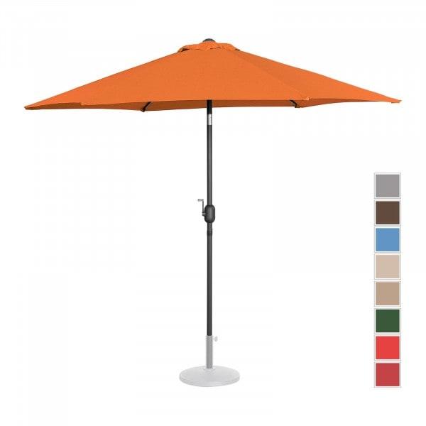 Large Outdoor Umbrella - orange - hexagonal - Ø 270 cm - tiltable