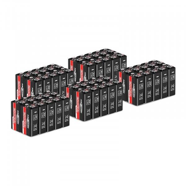 50 batterie alcaline 6LR61 transistor - Set risparmio Ansmann INDUSTRIAL - 9 V