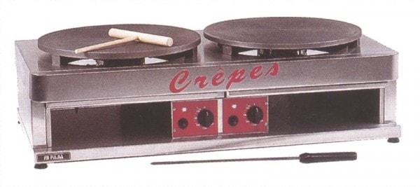 Crêpes-Eisen (Gas) mit 2 Backflächen - 900x480x270 mm