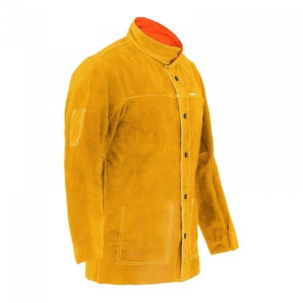 Schweißerjacke aus Rindspaltleder - gold - Größe XL