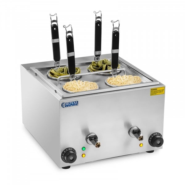 Pasta Cooker with 4 Straining Baskets
