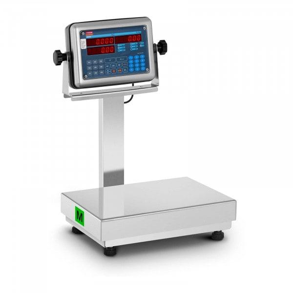 Platform mérleg - hitelesített - 60 kg/20 g - 120 kg/50 g - árszorzós funkció - LED-kijelző