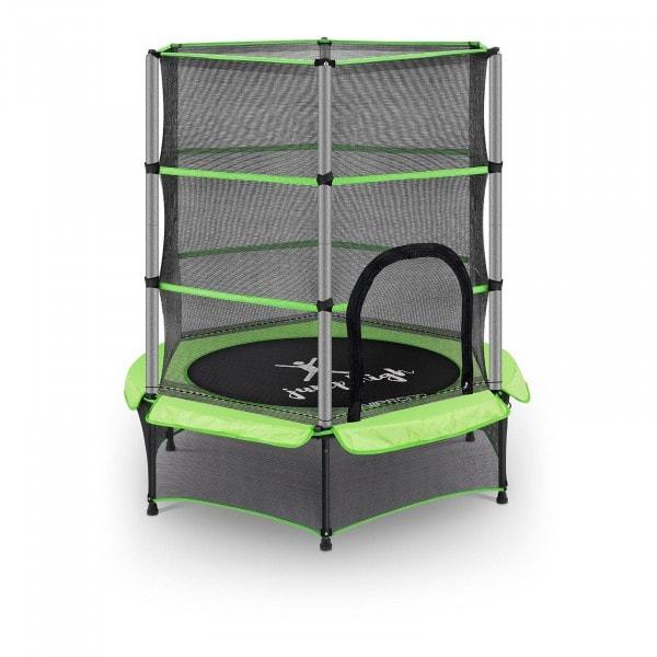 Zboží z druhé ruky Dětská trampolína - s bezpečnostní sítí - 140 cm - 50 kg - zelená