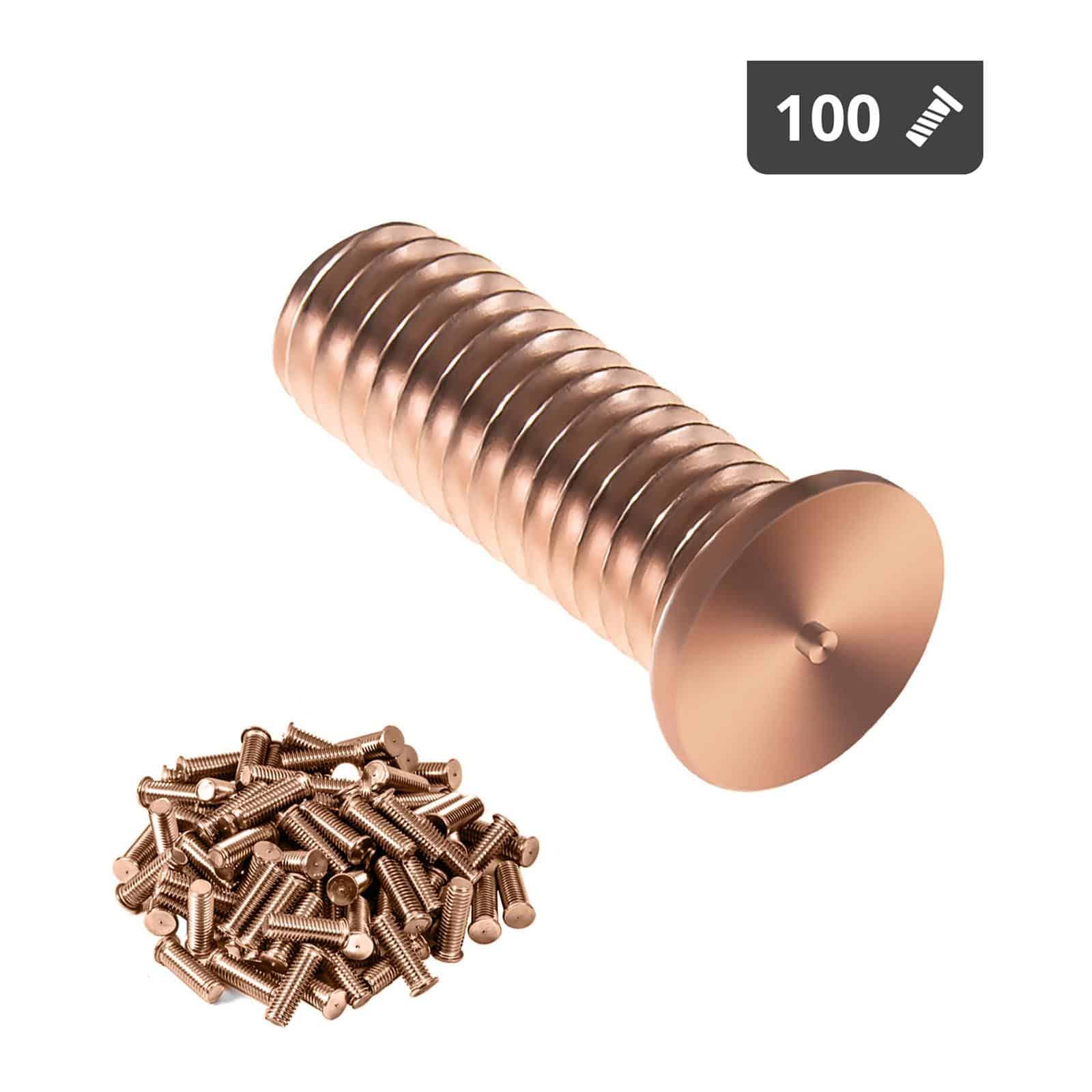 Kołki do zgrzewania - M3 - 10 mm - 100 sztuk