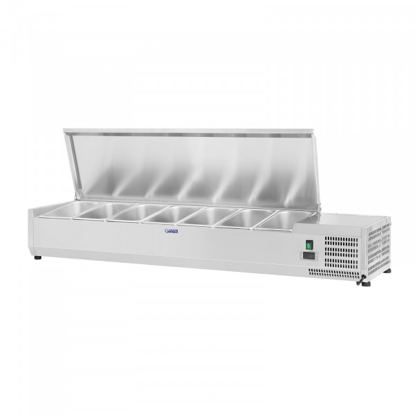 Countertop Refrigerated Display Case - 160 x 39 cm - 7 GN 1/3 Containers