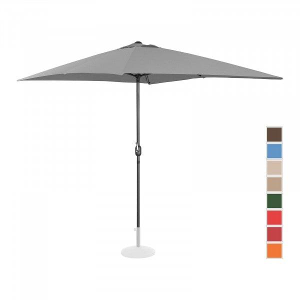 Stor parasoll - mørkegrå - rektangulær - 200 x 300 cm
