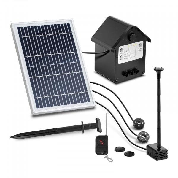 Pompa laghetto solare - 250 l/h - LED - con telecomando