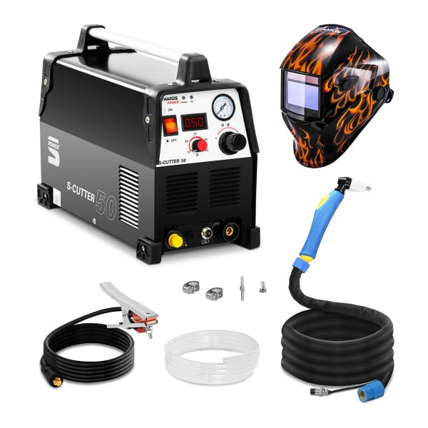 Welding Set Plasma Cutter - 50 A - 230 V - Pro + Welding helmet – Firestarter 500 - ADVANCED SERIES