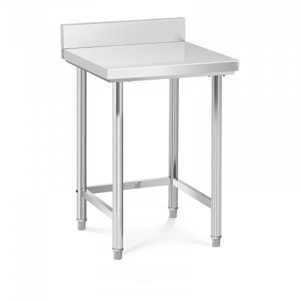 Tavolo inox con alzatina - 64 x 64 cm - Capacità di carico: 200 kg