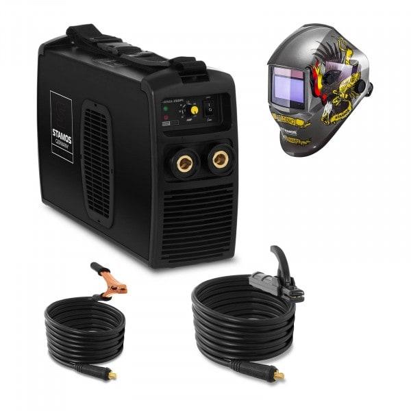 Svařovací set Elektrodová svářečka - 250 A - 230 V + Svářecí helma- Eagle Eye - ADVANCED SERIES