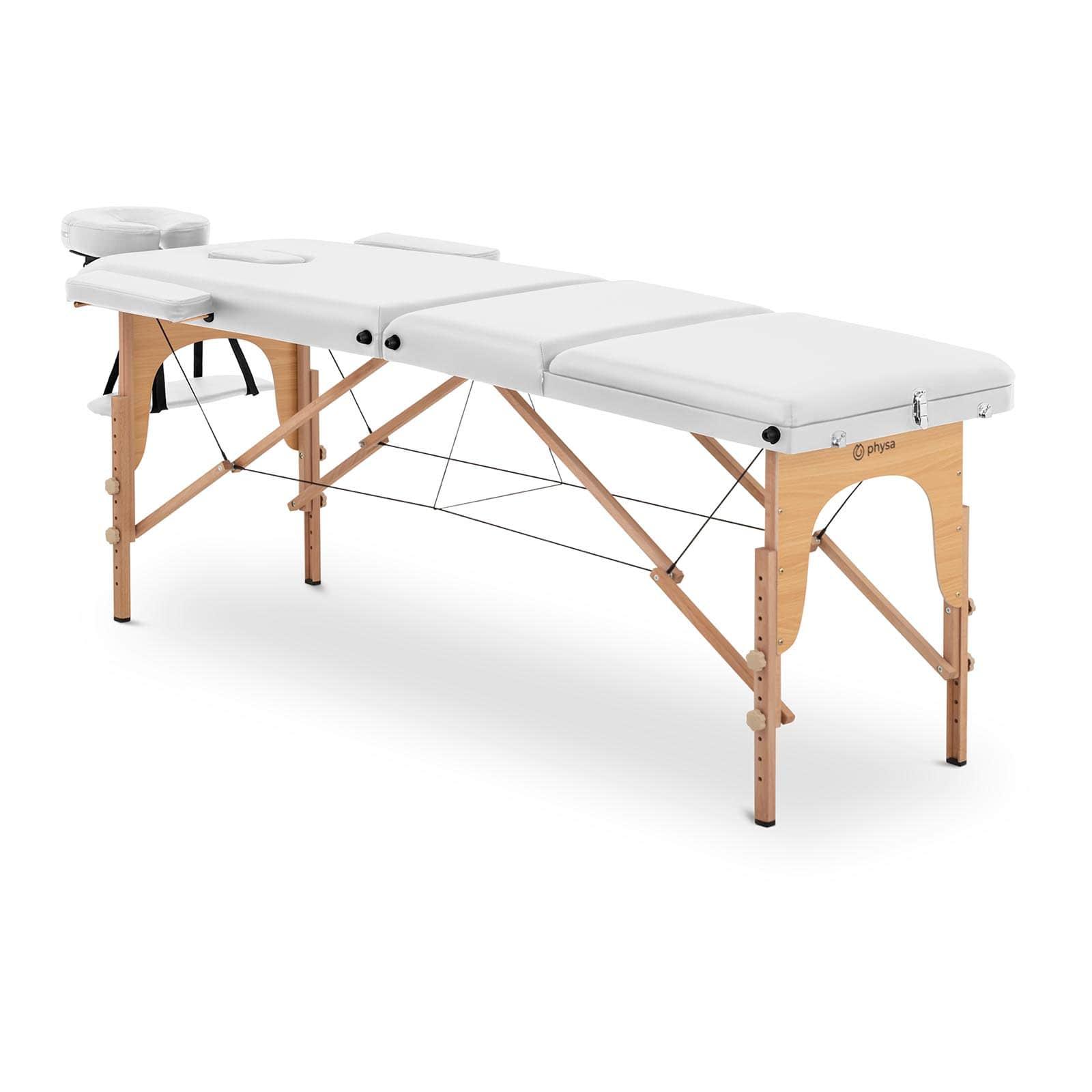 Łóżko do masażu Marseille White - składane - białe