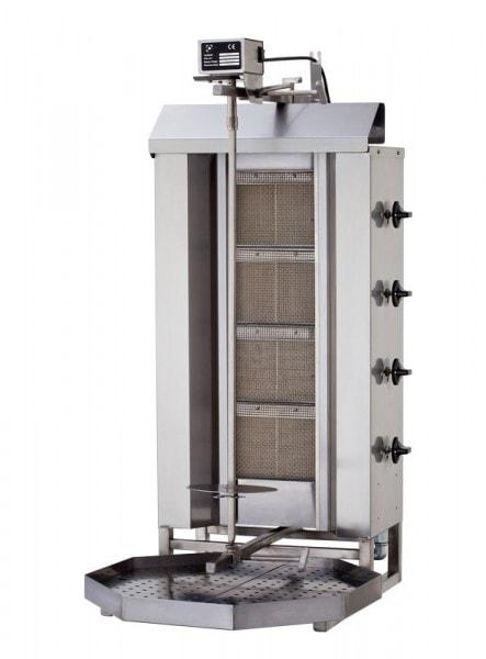 Dönergrill-Gyrosgrill Gas - 3 Brenner - 550x700x960mm