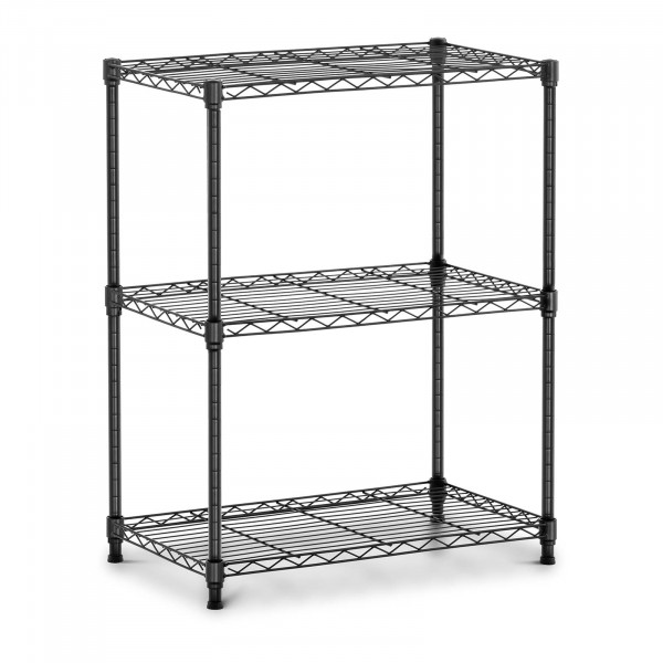 Metallregal - 60 x 35 x 77 cm - 120 kg - schwarz