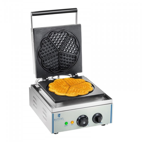 Waffle Maker - 1500 Watts - Heart-Shaped
