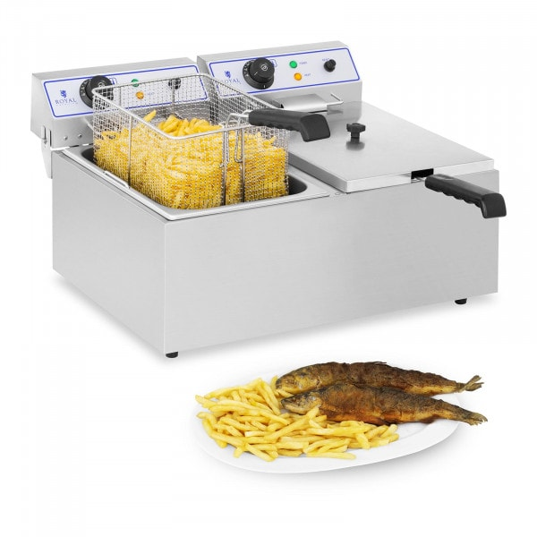 Electric Deep Fryer - 2 x 17 L