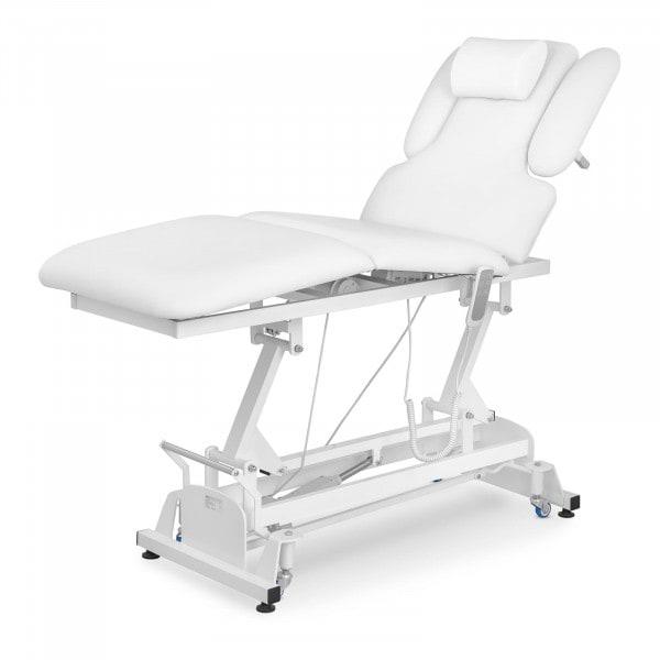 Massageliege NANTES WHITE - elektrisch