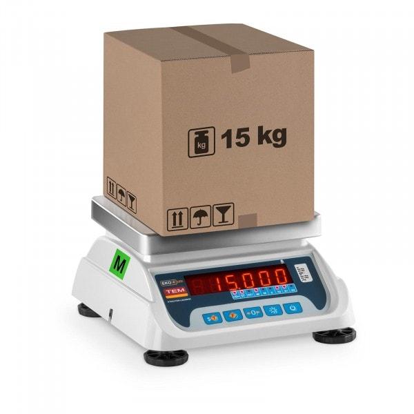 Butiksvåg - 6 kg/2 g - 15 kg/5 g - LED