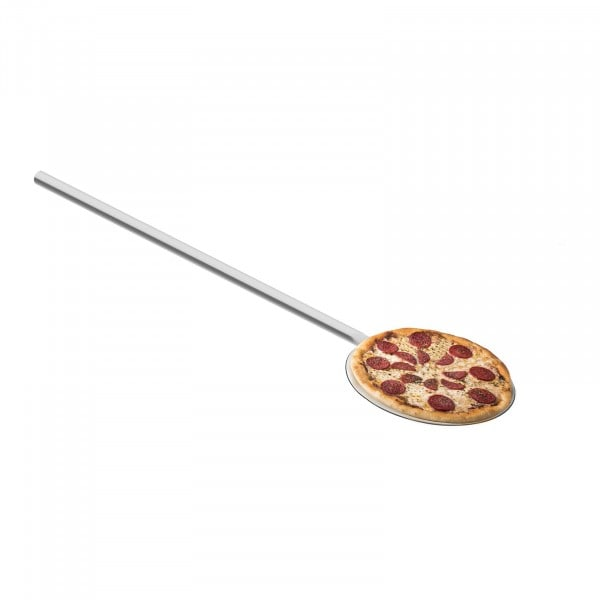 Pelle à pizza inox - 80 cm de long - 20 cm de diamètre