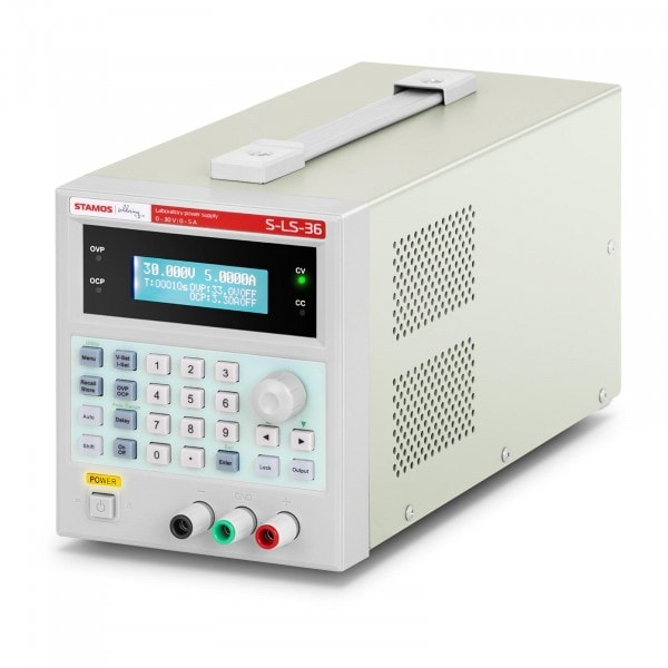 Bench Power Supply - 0-30 V - 0-5 A DC - 150 W - USB - 100 memory spaces