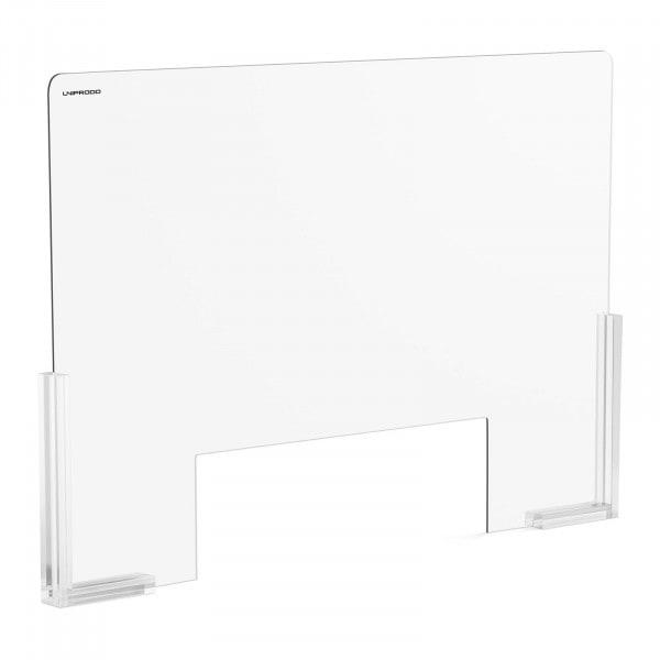 Occasion Pare-haleine - 95 x 65 cm - Verre acrylique - Passe-documents 38 x 25 cm
