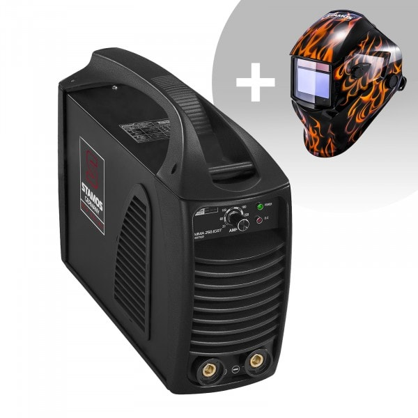 Welding Set Stick Welder - 250 A - Hot Start - IGBT + Welding helmet – Firestarter 500 - ADVANCED SERIES