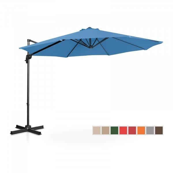 Tweedehands Zweefparasol - blauw - rond - Ø 300 cm - draaibaar