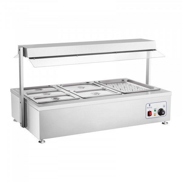 Factory seconds Bain-Marie - 6 GN - with meat attachment
