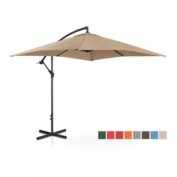 B-termék Lámpa formájú napernyő - tópszínű - szögletes - 250 x 250 cm - dönthető