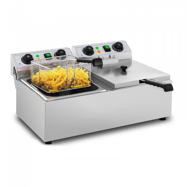 Electric Deep Fryer - 2 x 10 L - Timer - 230 V