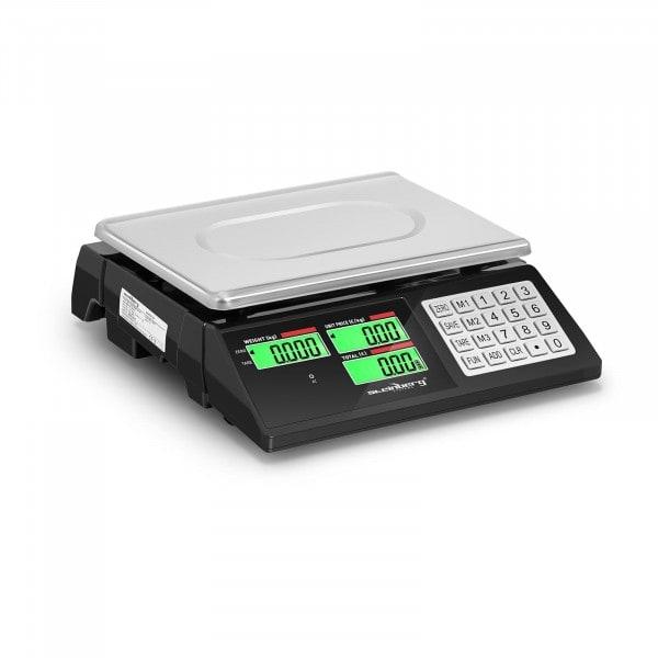 Ellenőrző mérleg - 40 kg / 2 g - dupla LCD