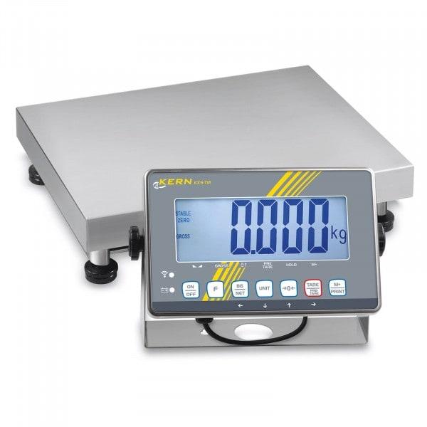 Gesamtansicht von KERN SXS 10K-3LM Plattformwaage SXS mit Edelstahl-IP68-Auswertegerät