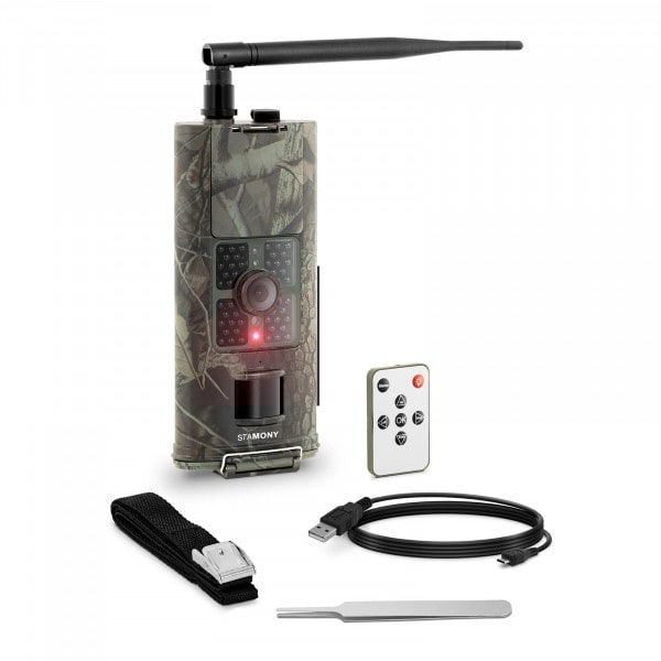 Factory second Game Camera - 8 MP - Full HD - 48 IR LEDs - 20 m - 0.5 s - 3G