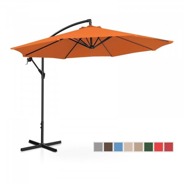 Ampelschirm - orange - rund - Ø 300 cm - neigbar