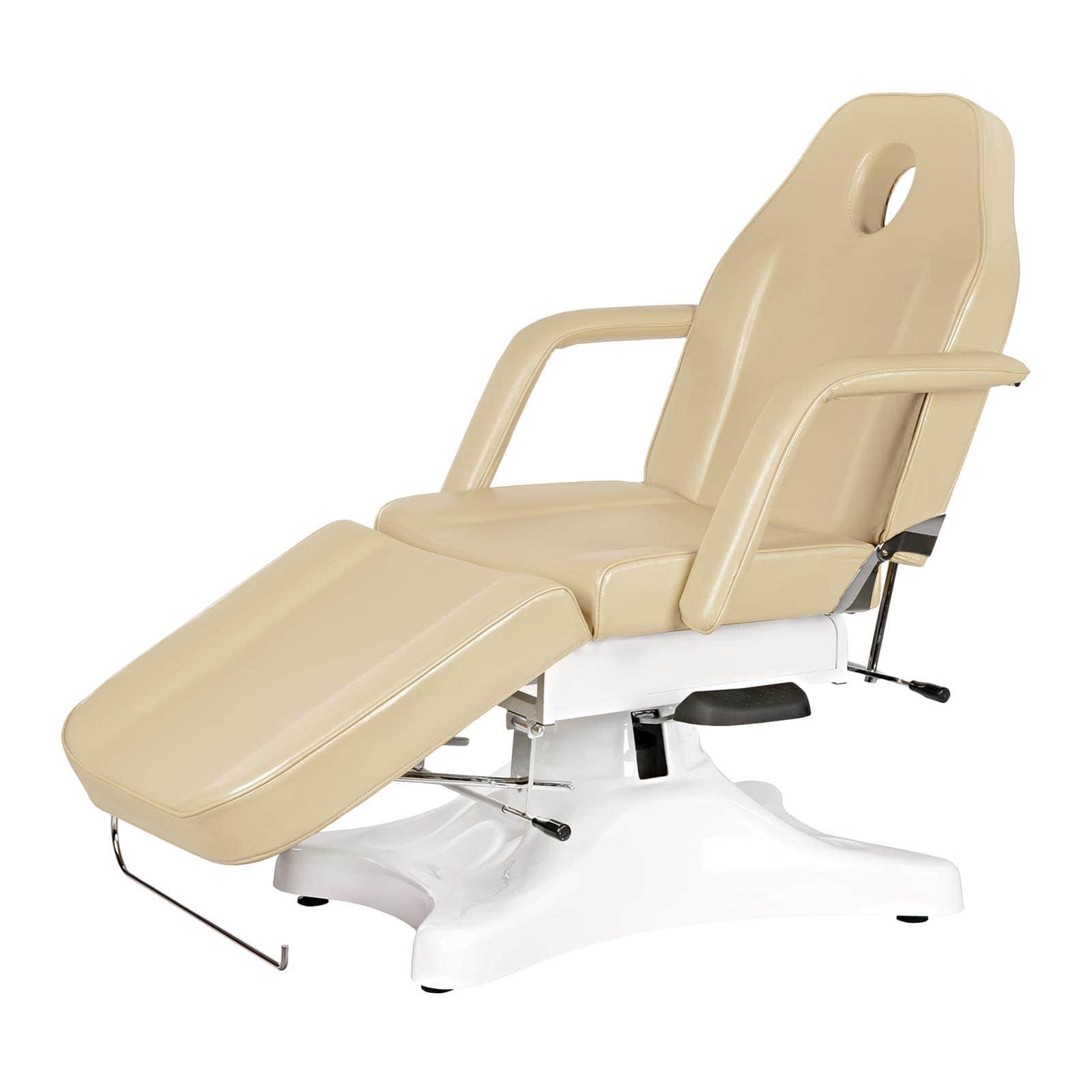 Beżowy fotel kosmetyczny Imperia - hydrauliczny