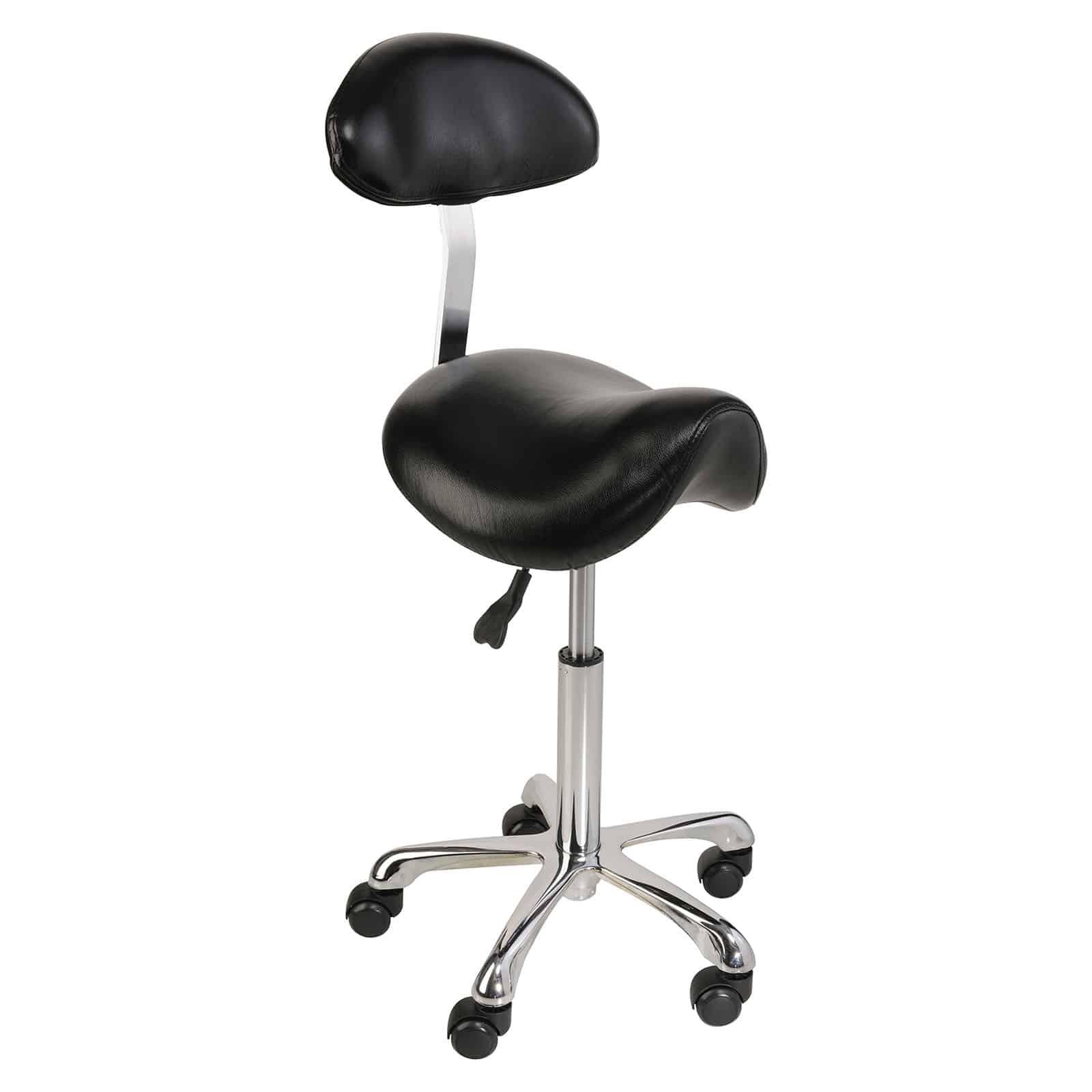Krzesło siodłowe Physa Relaxy - czarne - oparcie