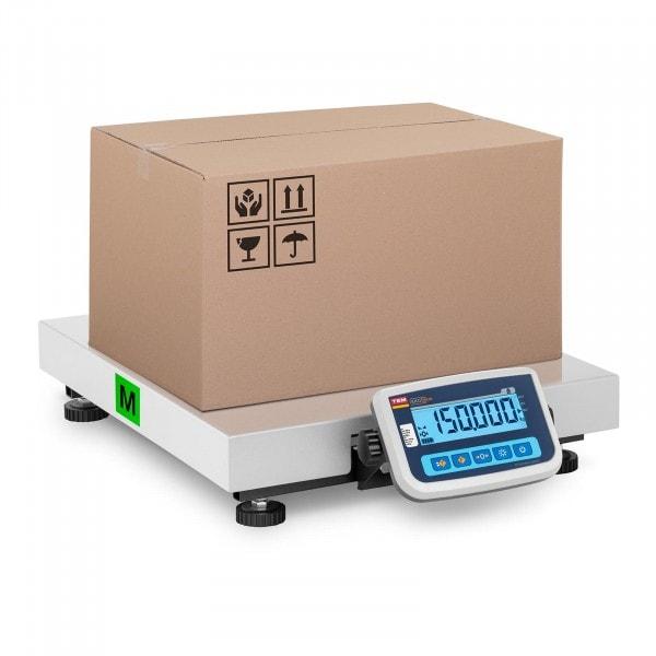 Pakkevekt - Sertifisert - 150 kg / 50 g - 60 x 50 cm