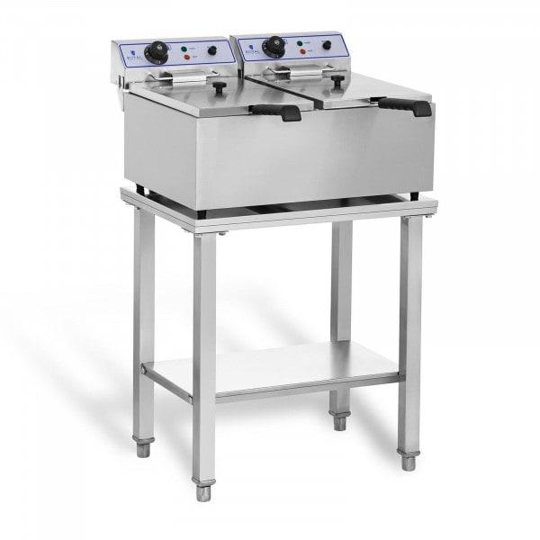 Elektro-Fritteuse - 2 x 17 Liter - mit Untergestell