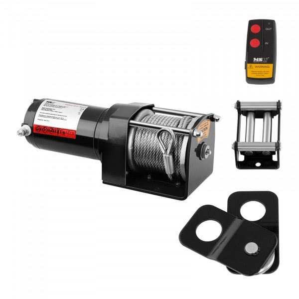 Electric Winch - 1.590 kg - 3.500 lbs - Incl. Pulley