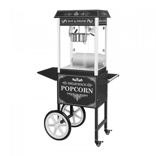 Popcornmaschine mit Wagen – schwarz - 1536 - 1