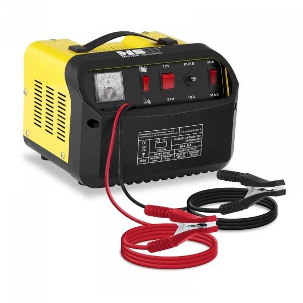 Caricabatterie per auto professionale - avviamento rapido - 12/24 V - 20/30 A - pannello di controllo inclinato