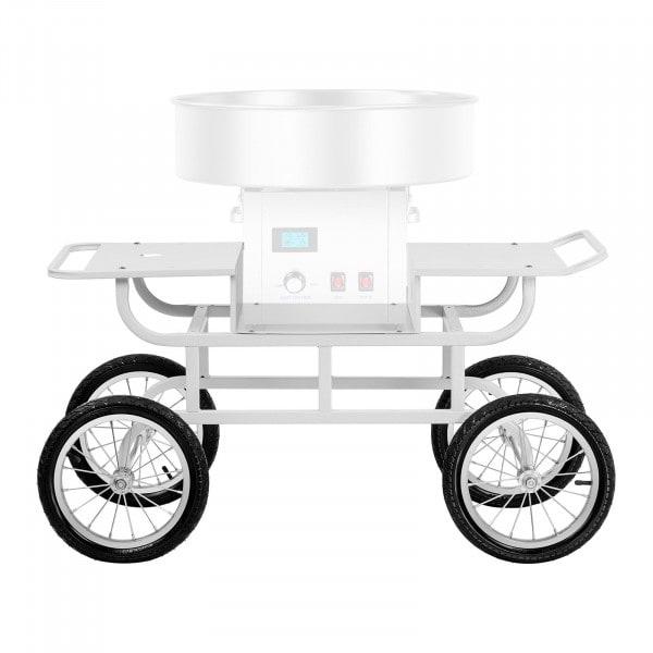 B-Ware Unterwagen für Zuckerwattemaschine - 4 RÄder - weiß