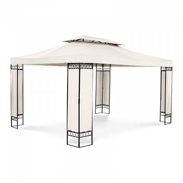 Gartenpavillon - 3 x 4 m - 160 g/m² - creme