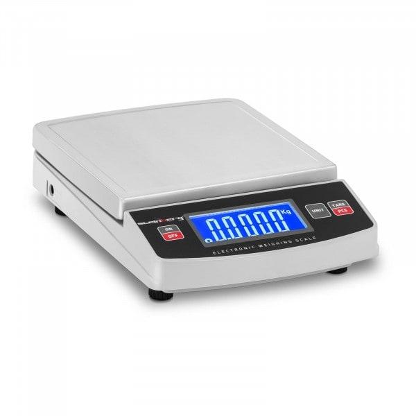 Bilancia da banco digitale - 5.000 g / 1 g - 14,8 x 15,2 cm - LCD