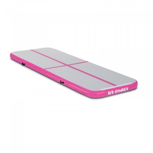 Artigos usados Tapete de ginástica inflável - 300 x 100 x 10 cm - rosa-cinza