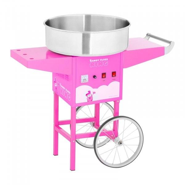 Zuckerwattemaschine mit Wagen - 52 cm - 1.200 W - pink