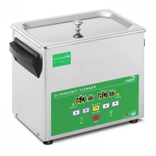Ultrazvuková čistička - 3 litry - 80 W - Memory Quick Eco