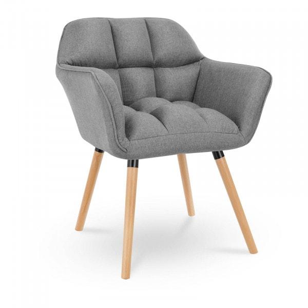 Krzesło tapicerowane - ciemnoszare