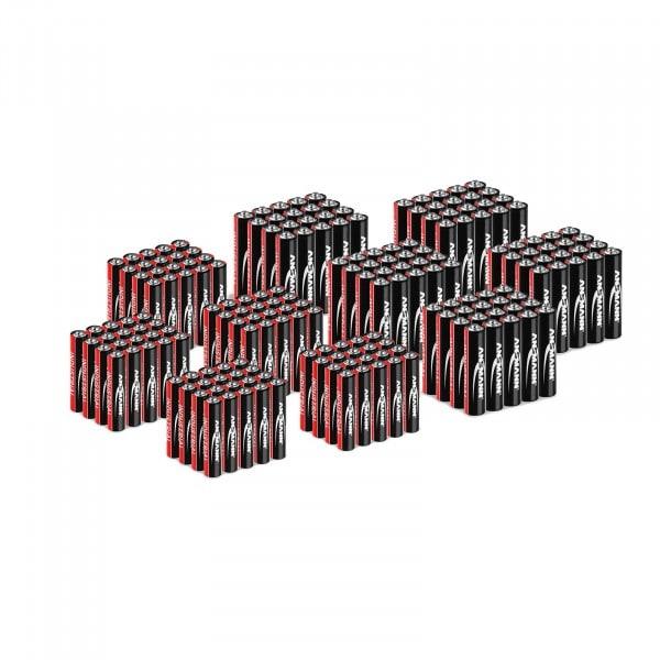 Paquet économique 200 piles alcalines industrielles AA et AAA Ansmann (100 x AAA LR03 + 100 x AA LR6) - 1,5 V